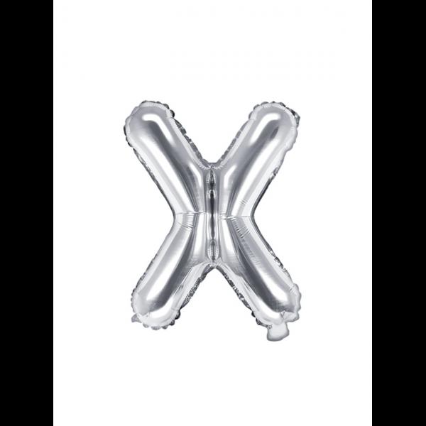 1 Ballon XS - Buchstabe X - Silber