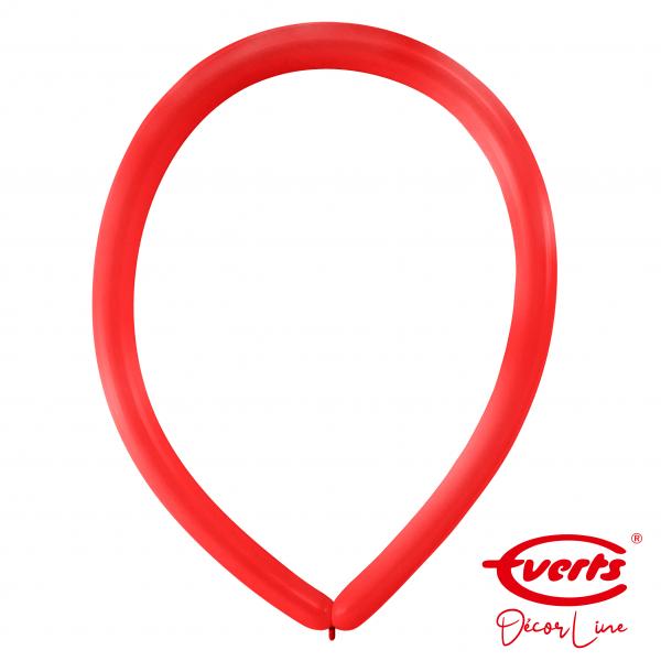 100 Modellierballons - DECOR - E160 - Apple Red