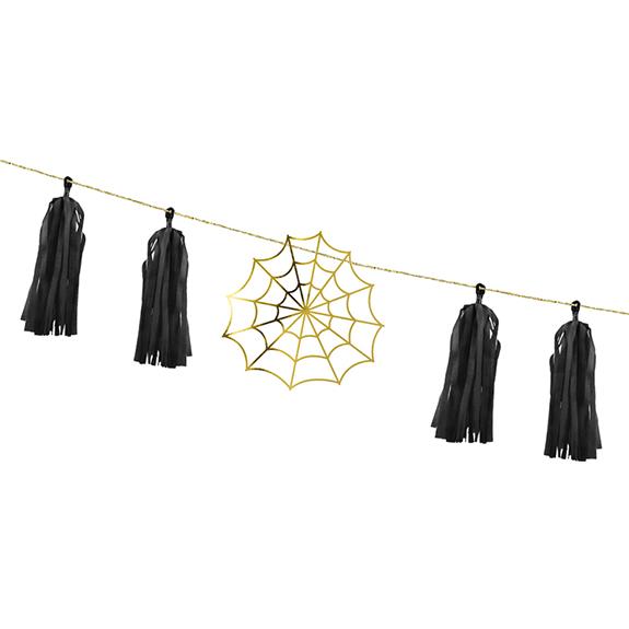 1 Girlande - 1,75m - Spiderwebs