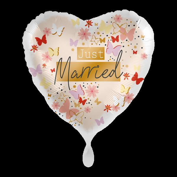 1 Ballon - Just Married Tender Butterflies