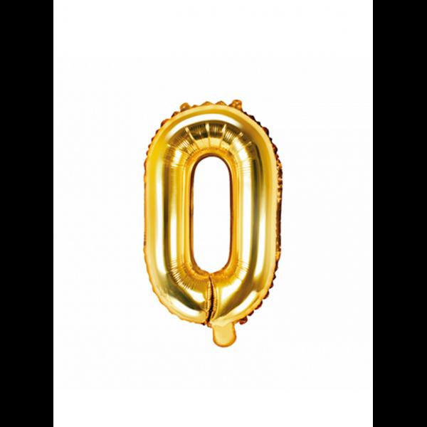 1 Ballon XS - Buchstabe O - Gold