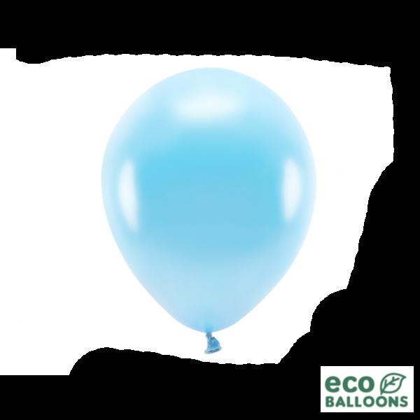 10 ECO-Luftballons - Ø 26cm - Metallic - Light Blue