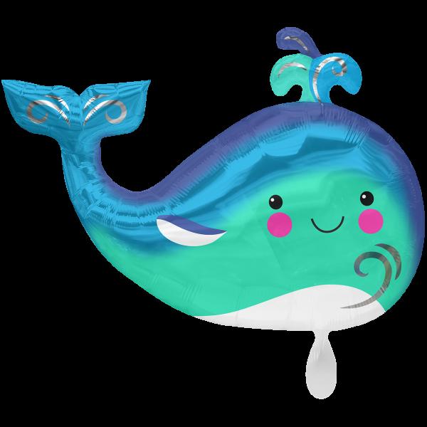 1 Ballon XXL - Happy Whale