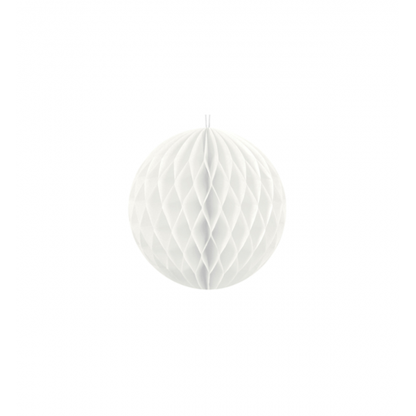 1 Wabenball - Ø 10cm - Weiß