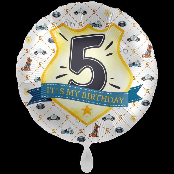 1 Ballon XXL - Police Academy - Fünf