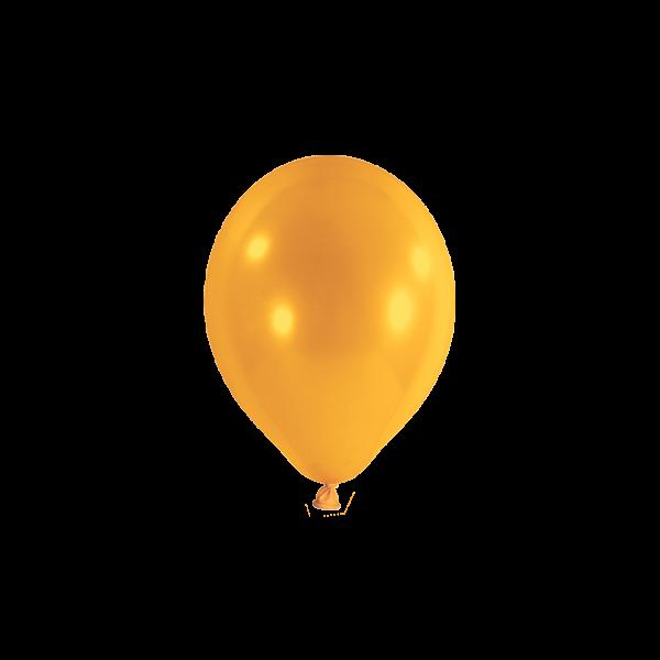 100 Miniballons - Ø 12cm - Orange
