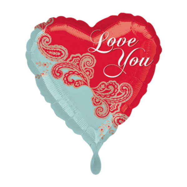 1 Ballon - Paisley Love - Ø 45cm