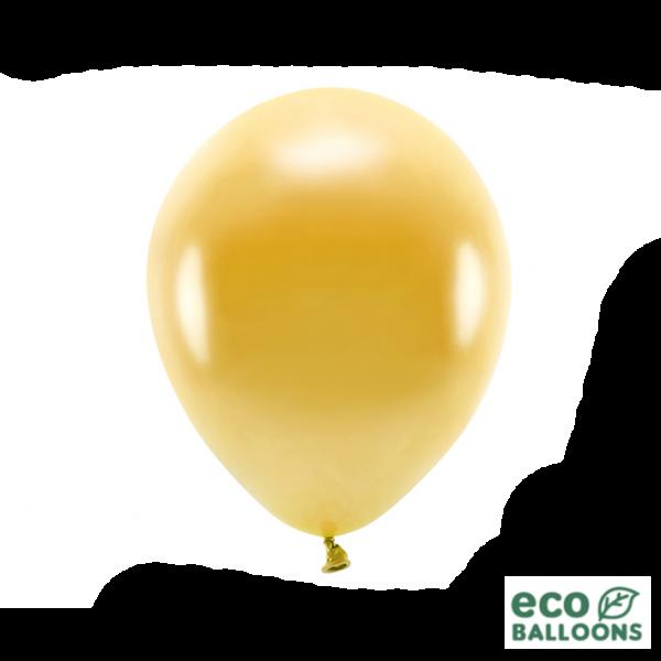 100 ECO-Luftballons - Ø 30cm - Metallic - Gold