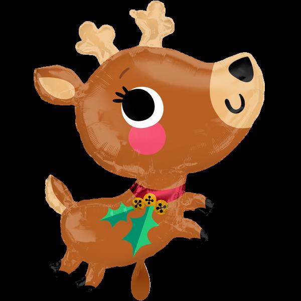 1 Ballon XXL - Adorable Reindeer