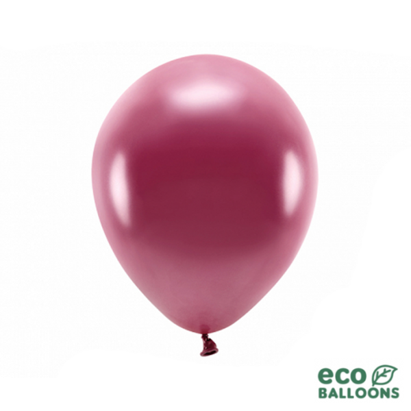 10 ECO-Luftballons - Ø 30cm - Metallic - Deep Red
