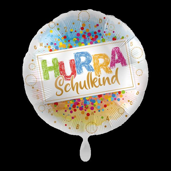 1 Ballon - Hurra Schulkind