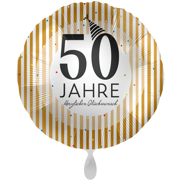 1 Ballon XXL - 50 Jahre Golden Stripes
