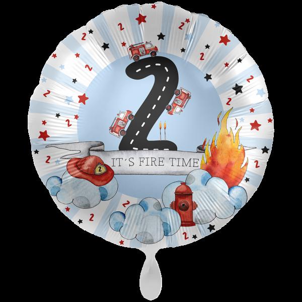 1 Ballon XXL - Happy Fire Engine - Zwei