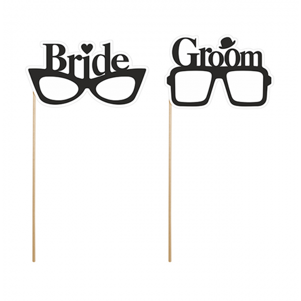 1 Photobooth Set - Bride & Groom