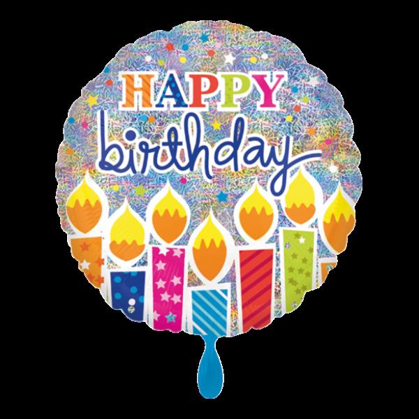 1 Ballon - Shimmer Birthday Candles