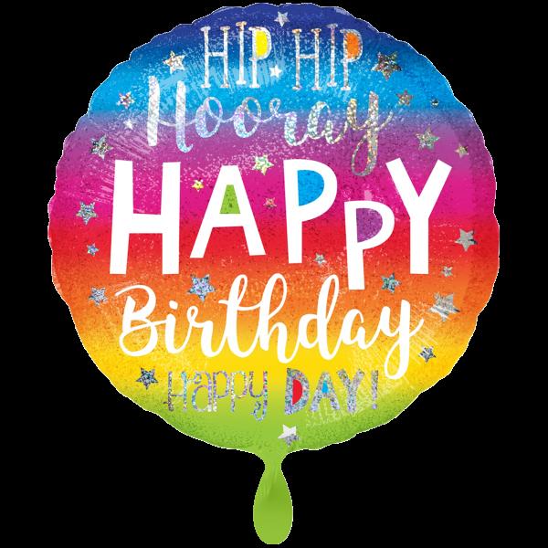 1 Ballon XXL - Hip Hip Hooray Birthday