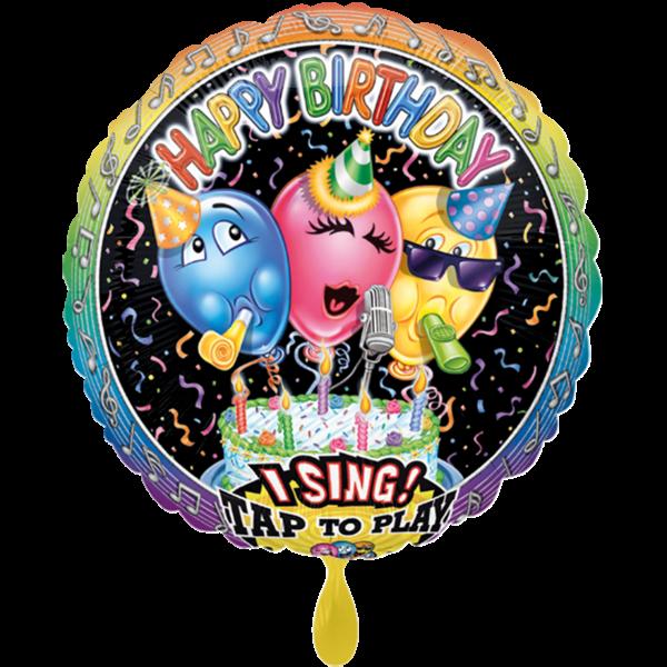 1 Musikballon - Singing Balloon Birthday