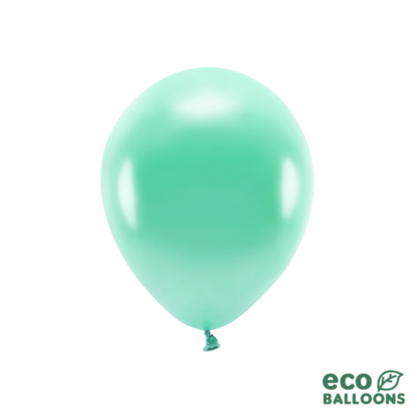 10 ECO-Luftballons - Ø 26cm - Metallic - Dark Mint