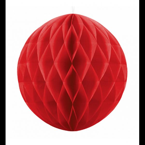 1 Wabenball XXL - Ø 30cm - Rot