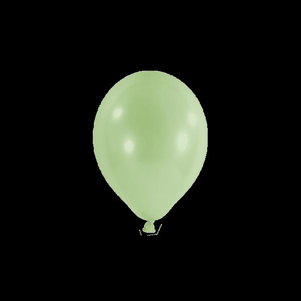 100 Miniballons - Ø 12cm - Pastell - Pistazie