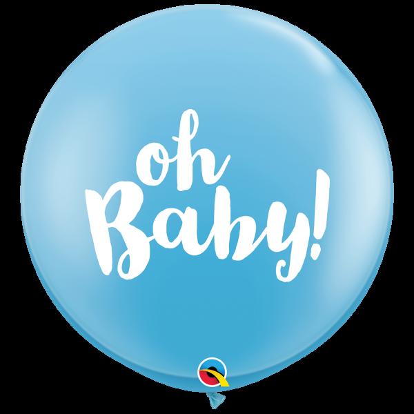 2 Riesenballons - Ø 90cm - Oh Baby Boy