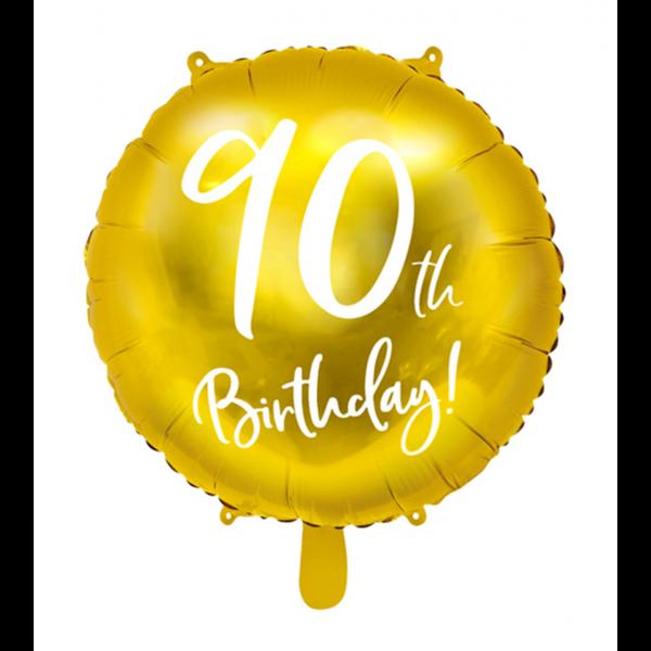1 Ballon - 90th Birthday Gold