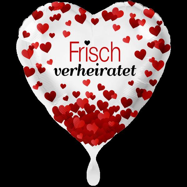 1 Ballon XXL - Frisch Verheiratet Herzen