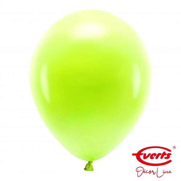 50 Luftballons - DECOR - Ø 35cm - Pearl & Metallic - Kiwi