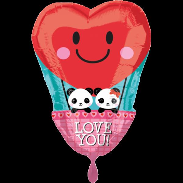 1 Ballon - Panda Love - Ø 50cm