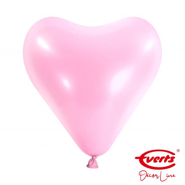 50 Herzballons - DECOR - Ø 30cm - Pretty Pink (Rosa)