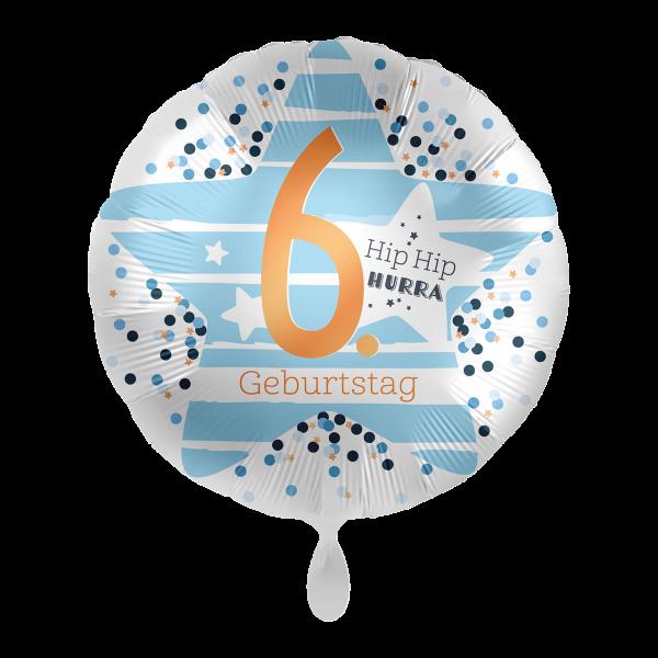 1 Ballon - 6. Geburtstag Stars