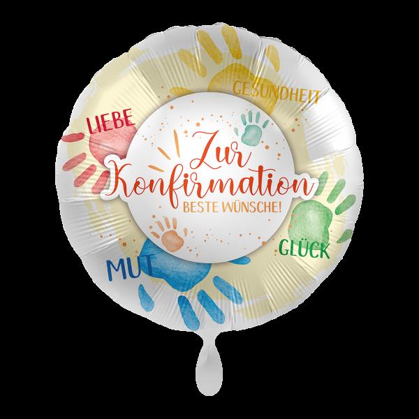 1 Ballon - Konfirmation Wünsche