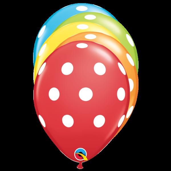 6 Motivballons - Ø 27cm - Big Polka Dots